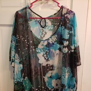Lane Bryant size 26/28 semishear water color tunic
